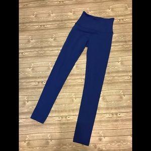 Beyond Yoga Blue High Waisted Leggings Sz XS